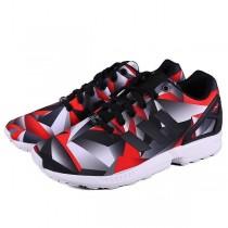 Promociones de 2016 Adidas Originals ZX FluxsHombre trainers Geometric patterns rojo/Negro/Gris,adidas rosa palo,adidas chandal online,catalogo