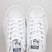 2016 Wild mujeres Adidas Originals Stan Smith Zapatos Ftwr blanco/Collegiate azul marinos,adidas blancas y verdes,zapatos adidas baratos,España