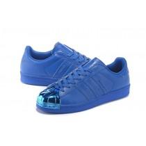 Promociones de 2016 Adidas Originals Superstar 80s Supercolor Zapatos azul Metallicscasuales Trainers,outlet ropa adidas santiago,chaquetas adidas,ofertas