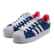Versión 2016 Adidas Superstar II Originals mujeres Zapatos casualeses azul Leopards,adidas negras y doradas,zapatos adidas outlet,sabor