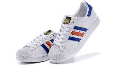 2016 cómodo Adidas Originals Superstars Foundation Trainer Hombre/mujeres Zapatos blanco / Royal,adidas negras superstar,ropa adidas barata chile,Madrid tienda online