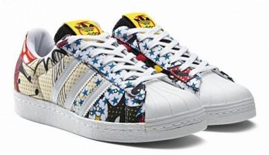 2016 Señora Adidas Superstar 80s City Series Shanghai casuales Hombre Mujer Zapatos Collegiate Oros,adidas superstar negras,adidas negras y doradas,casual