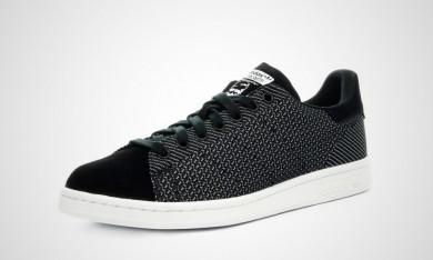 Promociones de 2016 Hombre Adidas Stan Smith Weave Sneakers Negro/blancos,zapatos adidas baratos,adidas superstar,guía de compras