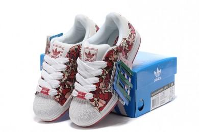 Comprar 2016 mujeres Adidas Superstar 1 K IS Adicolor 561973 Floral Multi-Color rojo Trainers,adidas rosa,chaquetas adidas originals,mercado