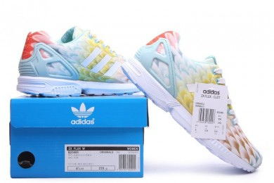 Promociones de 2016 Adidas Wmns ZX Flux mujeres zapatos para correr -sClear verde /blanco,zapatos golf adidas outlet,adidas superstar doradas,online baratas