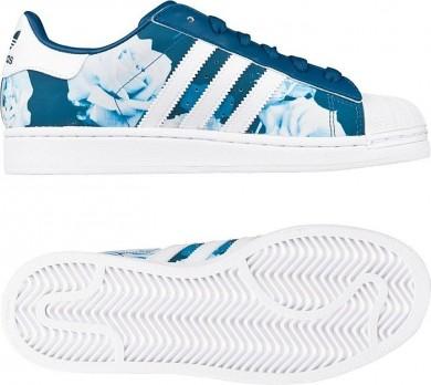Promociones de 2016 Adidas Originals Superstar 2 mujeres Trainerssazul marino/Rosa blanco,zapatos adidas outlet,bambas adidas baratas online,ventas por mayor