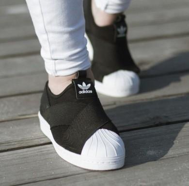 Promociones de 2016 Adidas Originals Superstar Slip OnsNegro/blanco Unisex Sneakers Zapatos,reloj adidas originals,zapatillas adidas superstar,catalogo