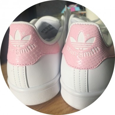 quality design f926e b5f80 2016 Wild Adidas Stan Smith GS blanco Cloud Rosado Juniors mujeres Girls  Snakeskin Trainers Zapatos casualesess